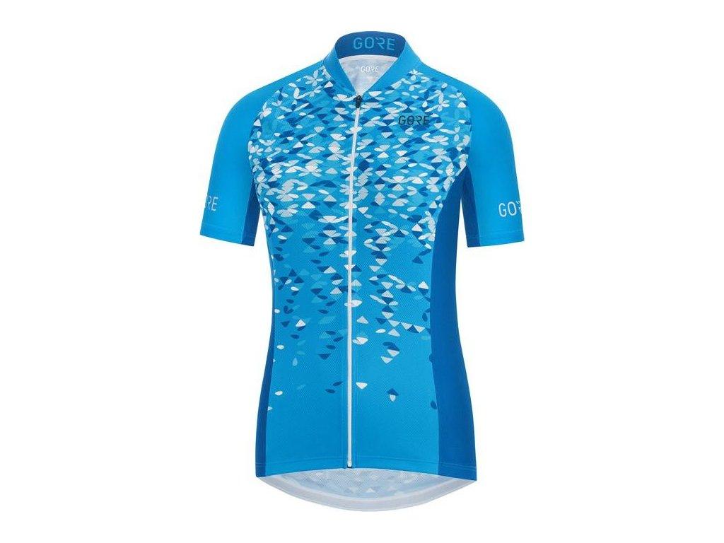 GORE C3 Women Petals Jersey-dynamic cyan/ciel blue-36