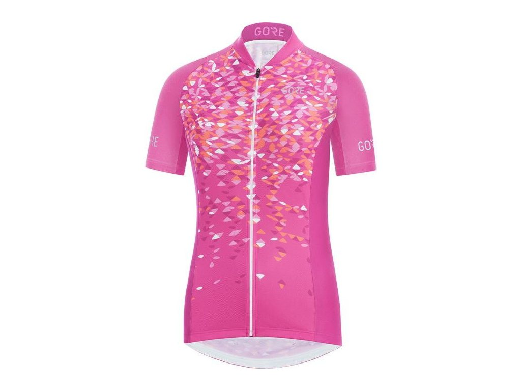 GORE C3 Women Petals Jersey-raspberry rose/coral glow-38