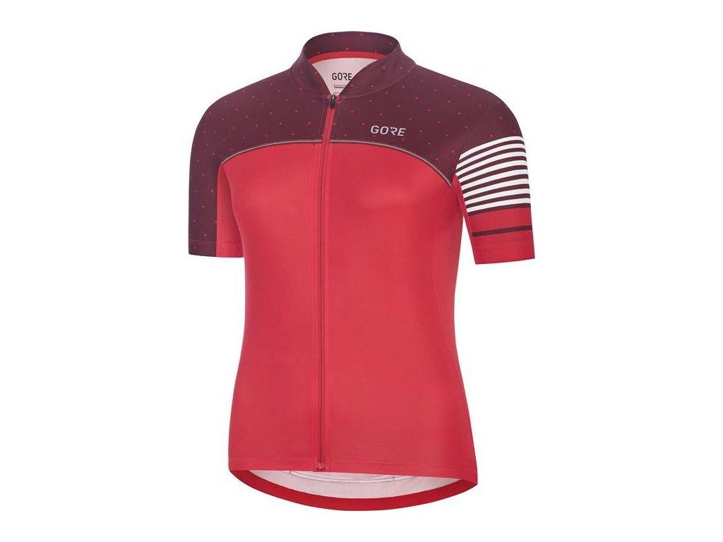GORE C5 Women Jersey-hibiscus pink/chestnut red-34