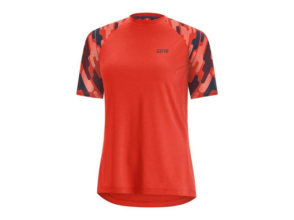 GORE C5 Women Trail Short Sleeve Jersey-fireball/orbit blue-36