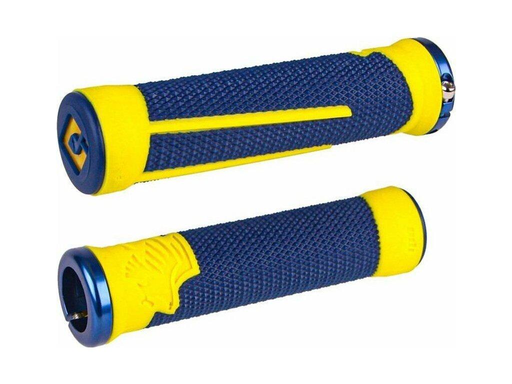 Gripy MTB ODI AG-2 Lock-On Navy Blue/Yellow