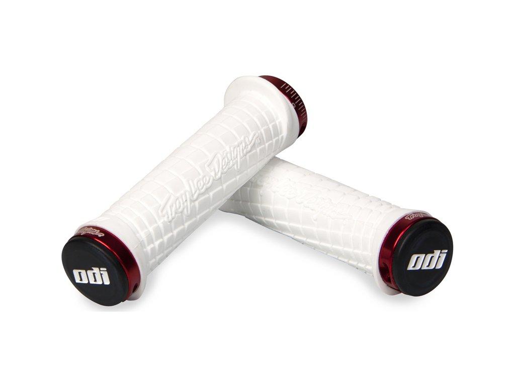 Gripy MTB ODI Troy Lee Designs Lock-On bonus pack White