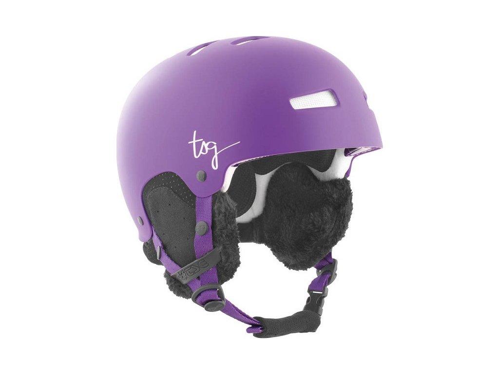 Přilba TSG Lotus Solid Color Satin Purple, XXS/XS