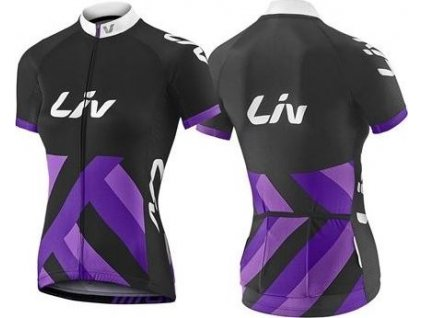 LIV Race Day SS Jersey-black/purple-XL