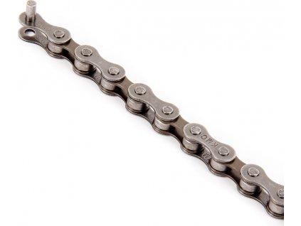Řetěz  5/6/7 sp. KMC HV500, šedá/hnědá (montážní balení), 116 čl.