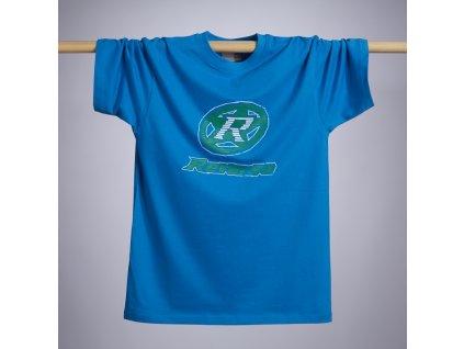 Tričko Reverse Tape design modré, L