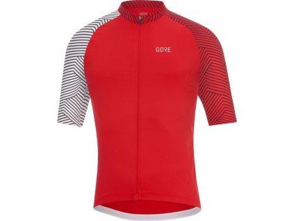 GORE C5 Optiline Jersey-red/white-M