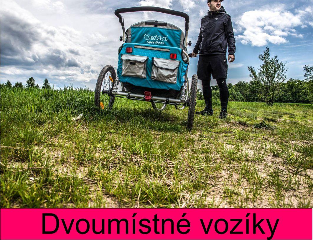 Vozík za kolo pro dvě děti