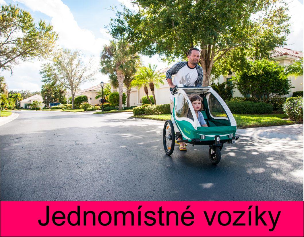 Vozík za kolo pro jedno dítě