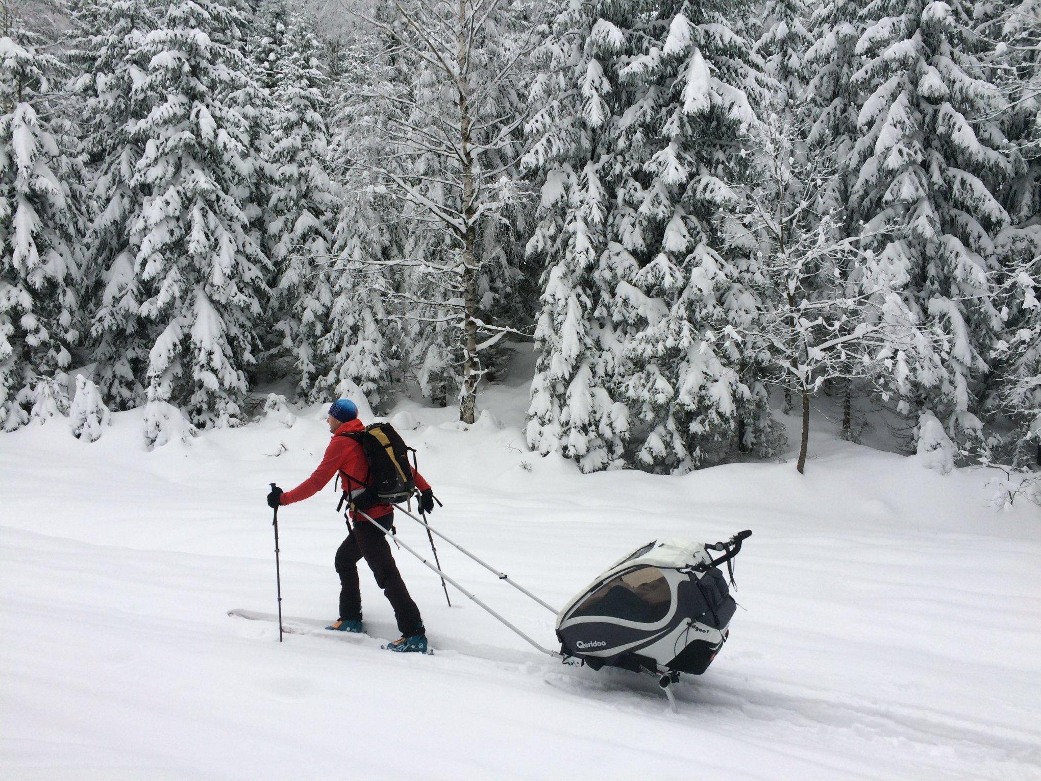 KidGoo Qeridoo vozík se ski setem, bike.sk