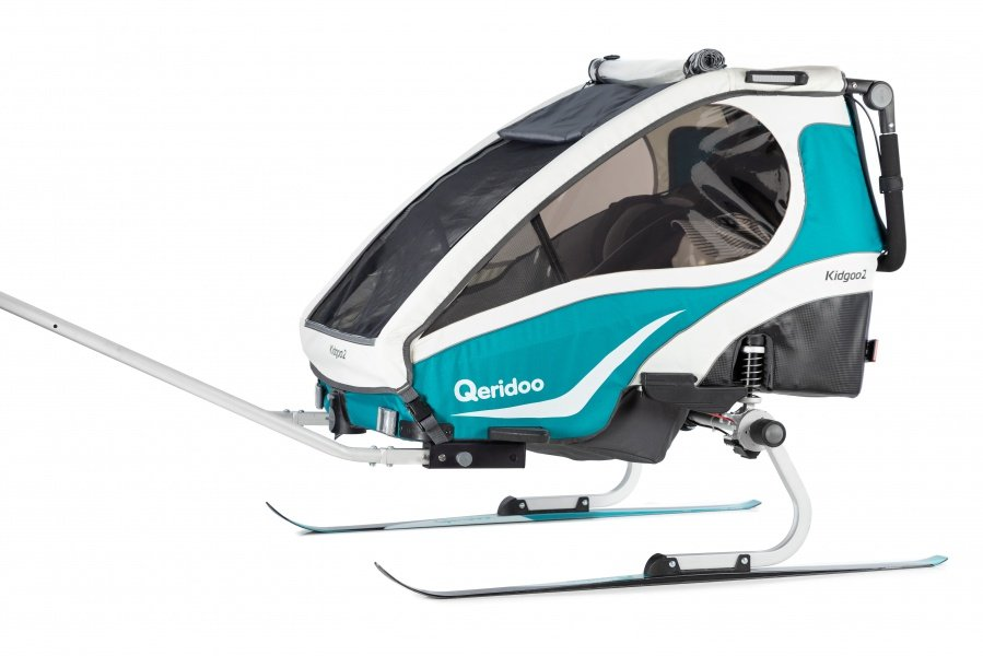 Vozík Qeridoo s lyžařským setem