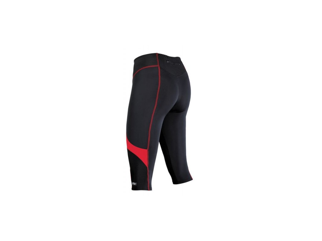 Cyklistické 3/4 kalhoty ETAPE TERRY černo/červené