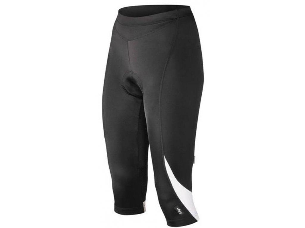 Cyklistické 3/4 kalhoty ETAPE NATTY černo/bílé