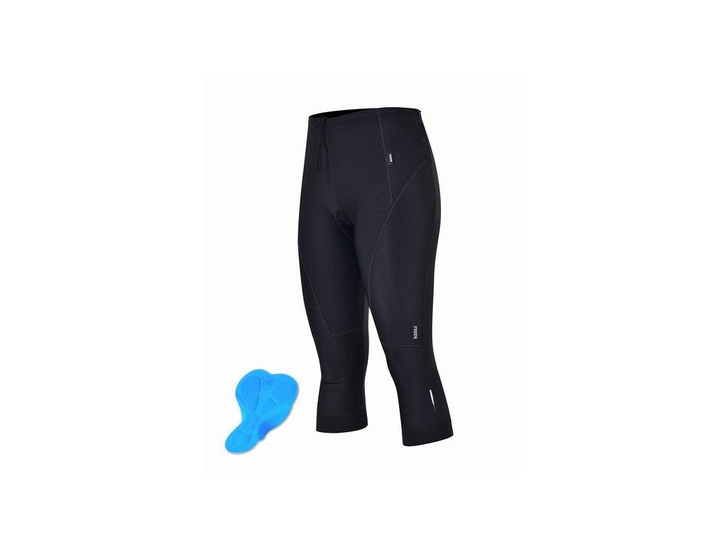Cyklistické 3/4 kalhoty KALAS BASIC černé