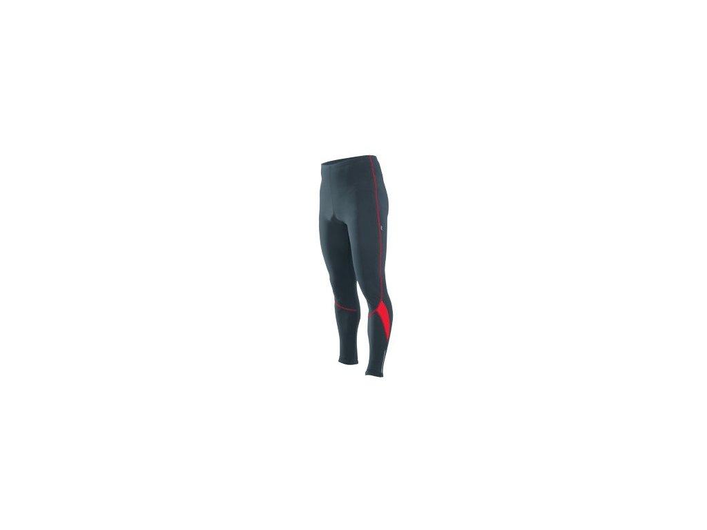 Cyklistické kalhoty dlouhé ETAPE RUNNER pas černo/červené