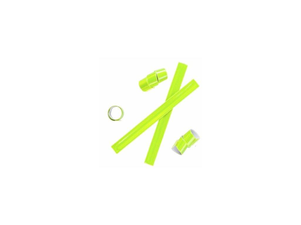 Reflexní páska bez potisku žlutá