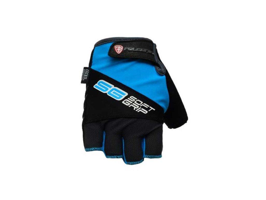 Cyklo rukavice POLEDNIK SOFT GRIP new modré