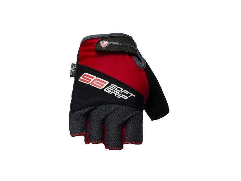 Cyklo rukavice POLEDNIK SOFT GRIP new červené