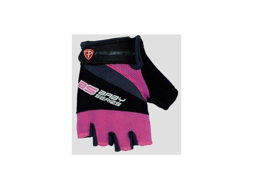 Cyklo rukavice POLEDNIK BS růžové