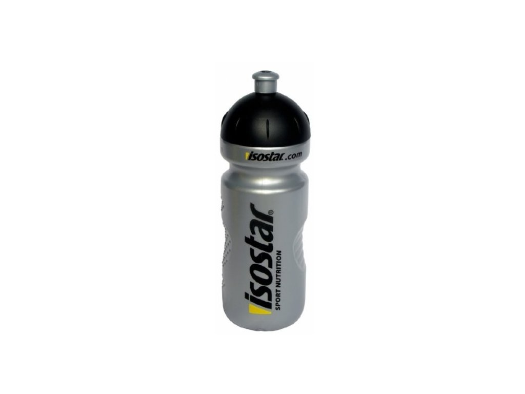 Cyklistická lahev Isostar stříbrná 0.6l