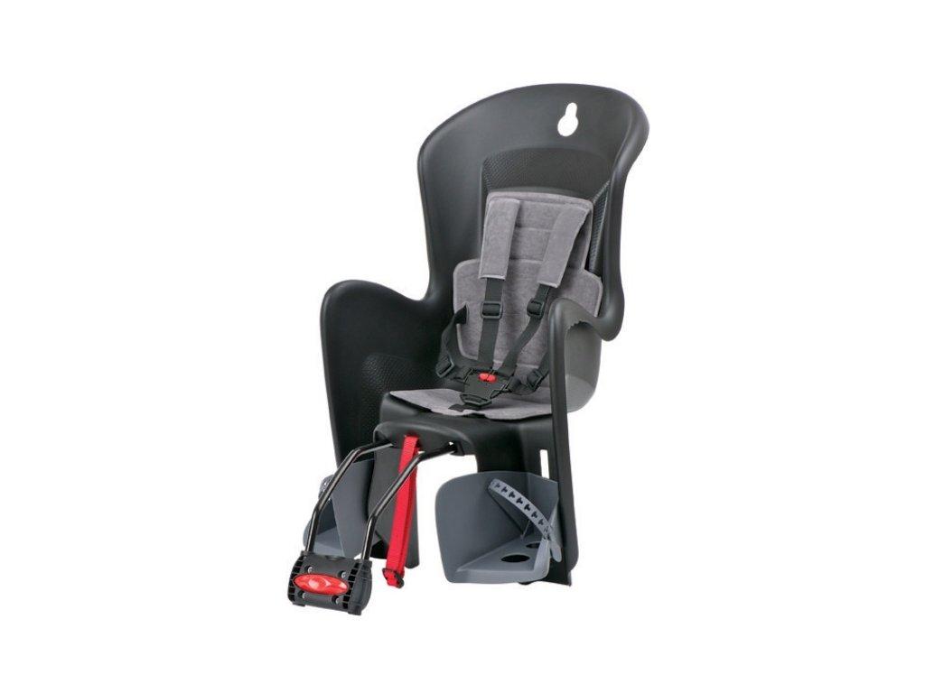 Dětská sedačka POLISPORT BILBY černo-šedá