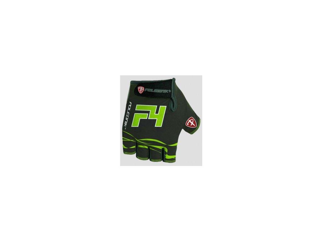 Cyklo rukavice POLEDNIK F4  šedo-fluoritové