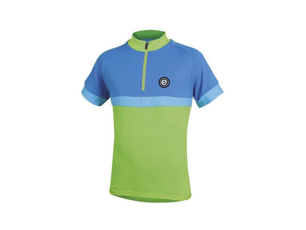 Etape - dětský dres BAMBINO,zelená/modrá
