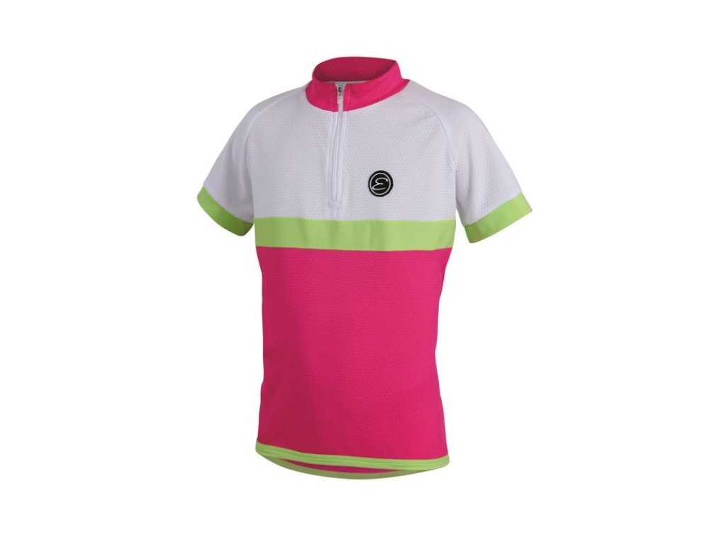 Etape - dětský dres BAMBINO,růžová/bílá