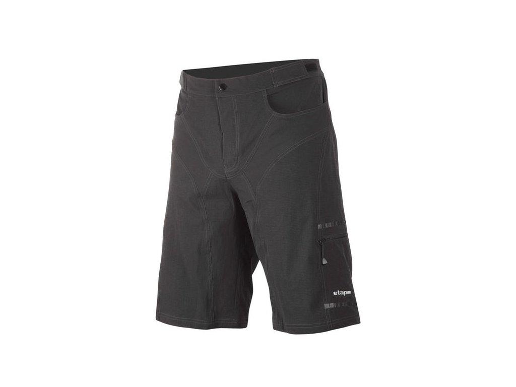 Etape - pánské volné kalhoty ADVENTURE, černá