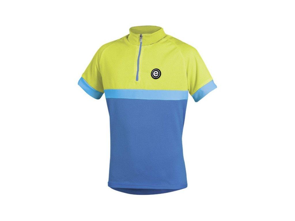 Etape - dětský dres BAMBINO,modrá/žlutá fluo