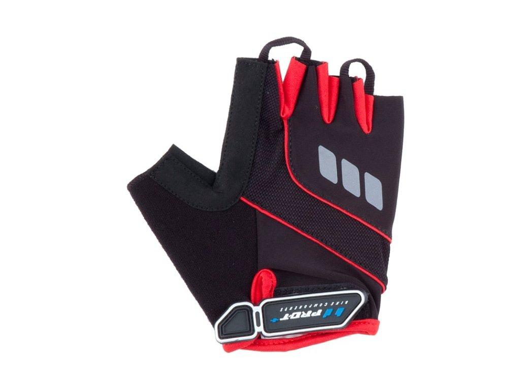 Cyklo rukavice PRO-T Plus Riva černo-červená