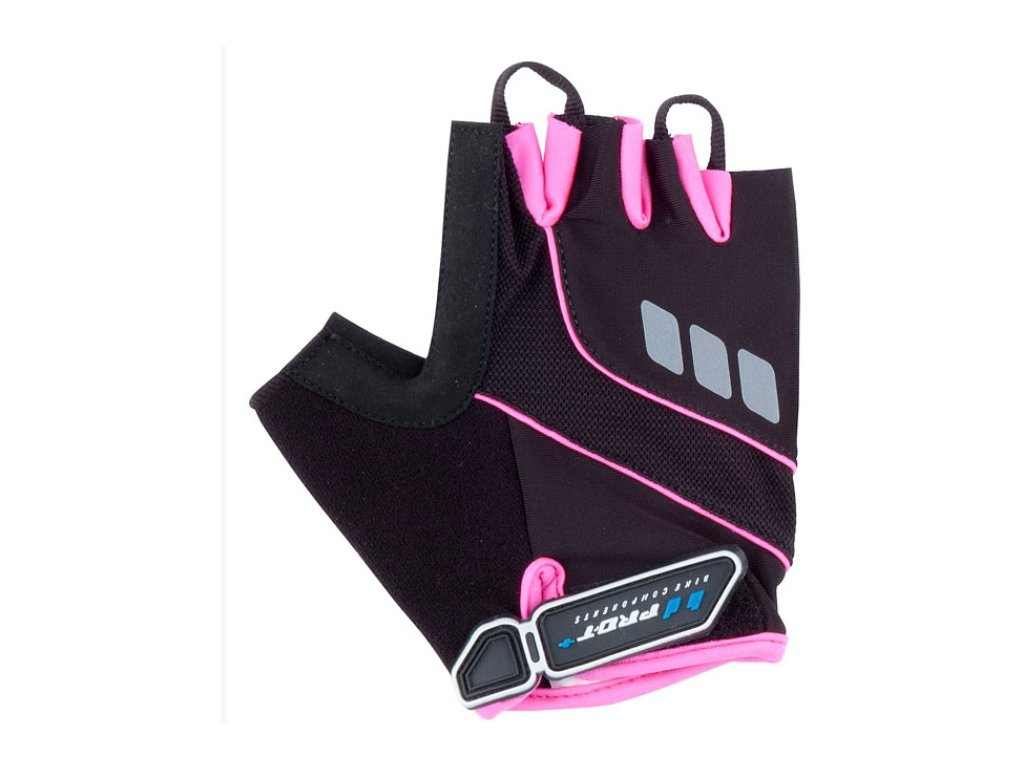 Cyklo rukavice PRO-T Plus Riva černo-růžová,Cyklo rukavice PRO-T Plus Riva černo-růžová