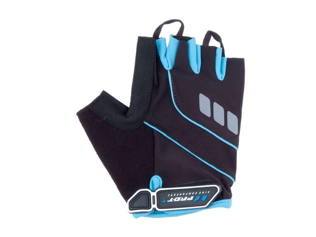 Cyklo rukavice PRO-T Plus Riva černo-modrá světlá