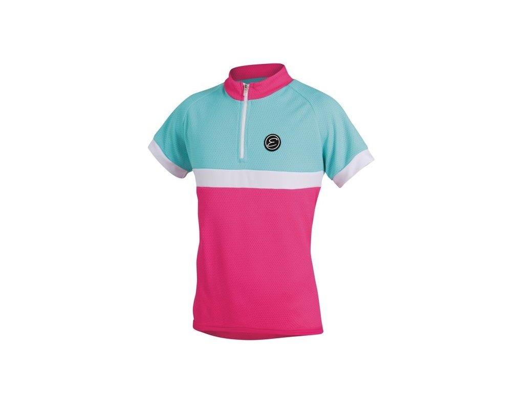 Etape - dětský dres BAMBINO,růžová/aqua