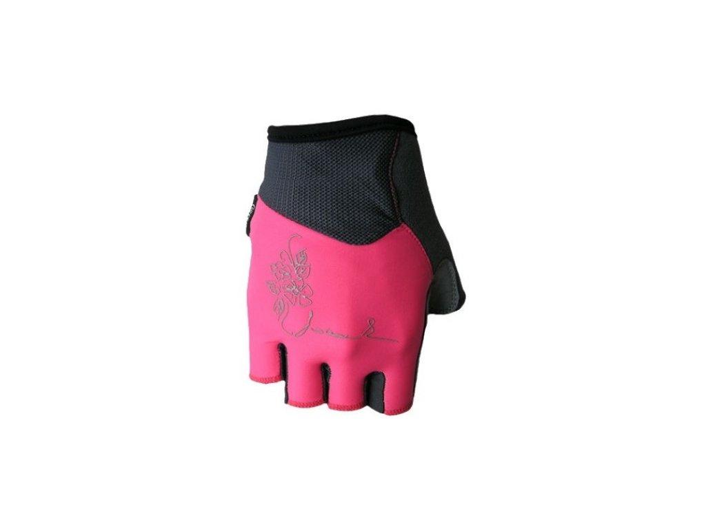 Cyklo rukavice POLEDNIK CHLORIS růžové