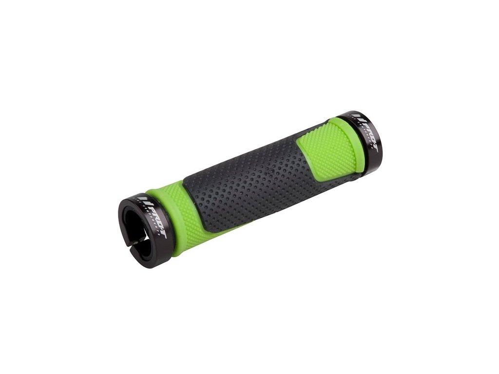Rukojetě PRO-T Plus černo-zelené-černé objímky