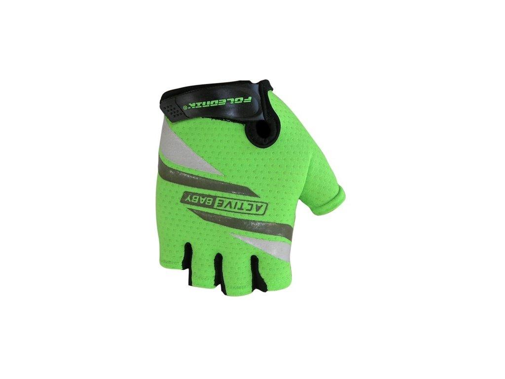 Cyklo rukavice Poledník ACTIVE BABY zelené,Cyklo rukavice Poledník ACTIVE BABY zelené