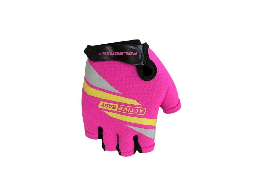 Cyklo rukavice Poledník ACTIVE BABY růžové,Cyklo rukavice Poledník ACTIVE BABY růžové