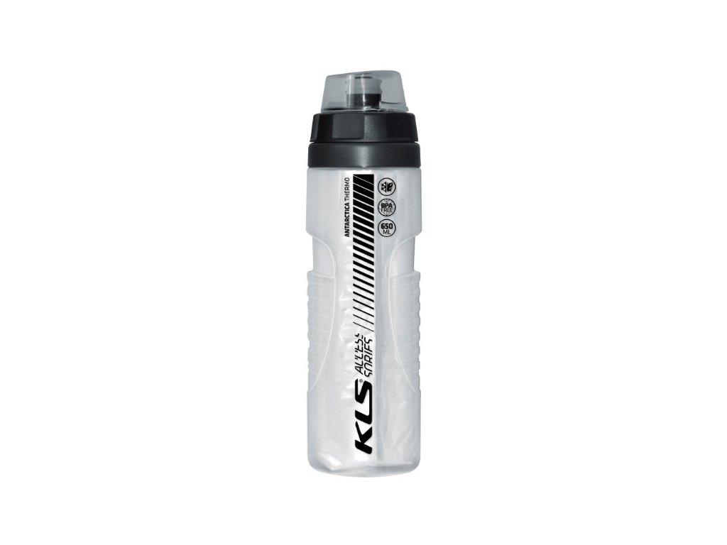 Cyklistická láhev  ANTARCTICA 0,7L Shiny White Thermo