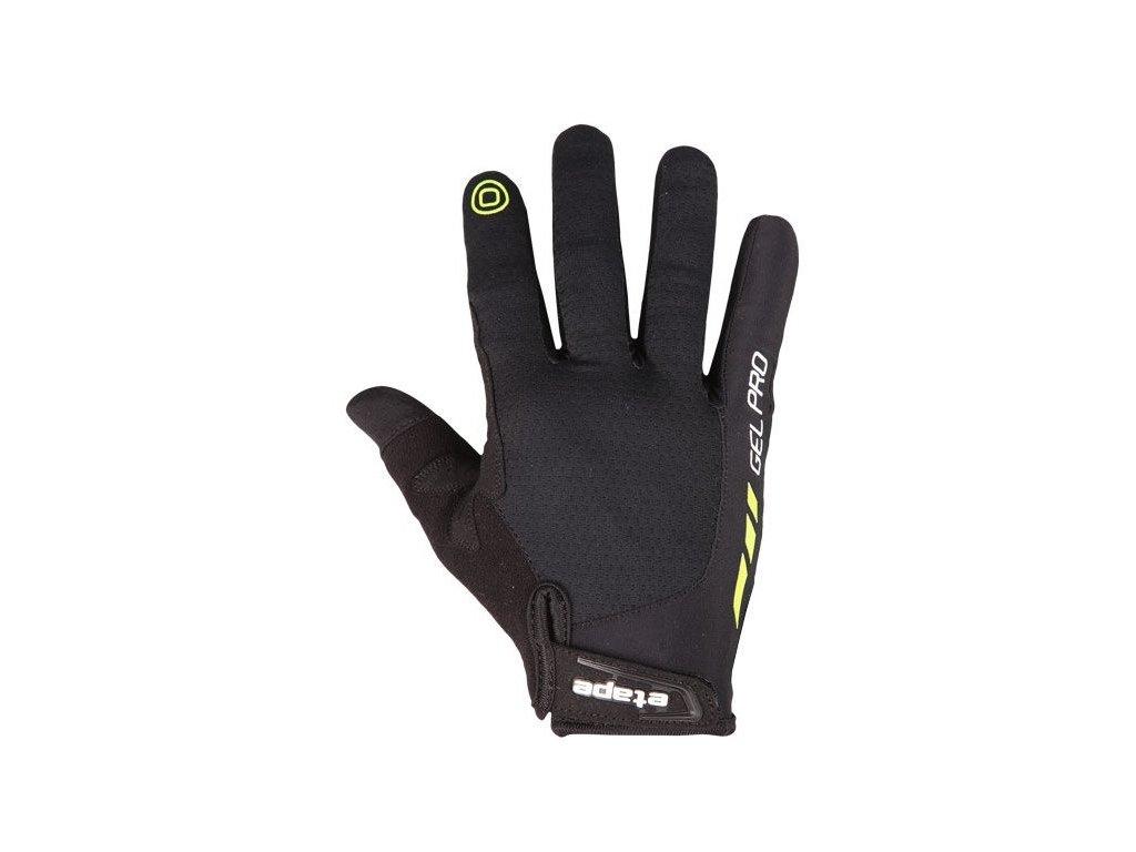 Etape - rukavice SPRING+, černá/limeta,Etape - rukavice SPRING+, černá/limeta