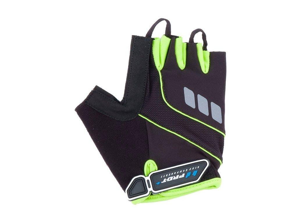 Cyklo rukavice PRO-T Plus Riva černo-zelená
