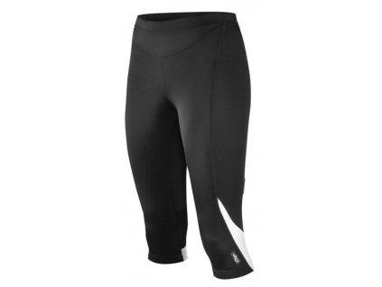 Cyklistické 3/4 kalhoty ETAPE TERRY černo/bílé