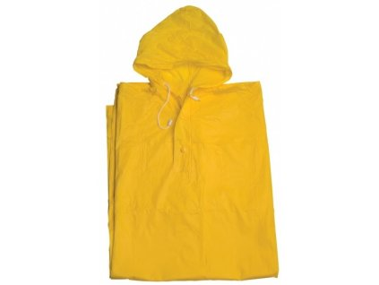 Pláštěnka PVC pončo žlutá