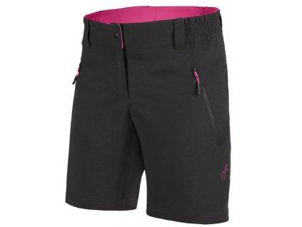 Etape - dámské volné kalhoty CAT, černá/růžová,Etape - dámské volné kalhoty CAT, černá/růžová