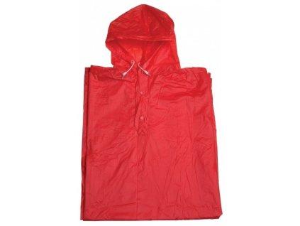 Pláštěnka PVC pončo červená