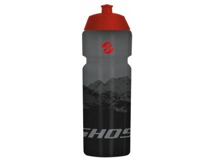 Cyklistická láhev GHOST Classic 750ml black/red