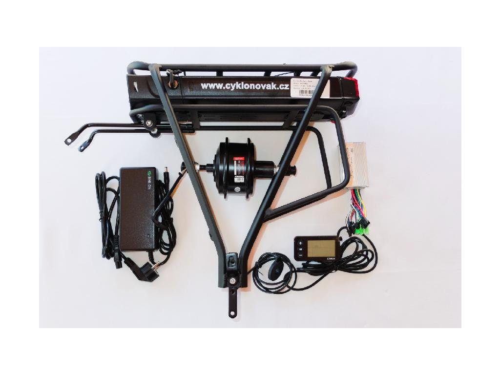 Komponenty k elektrokolům Elektrosada 2019 - zadní motor baterie nosič 10,4 Ah skladem u CykloNovák.cz