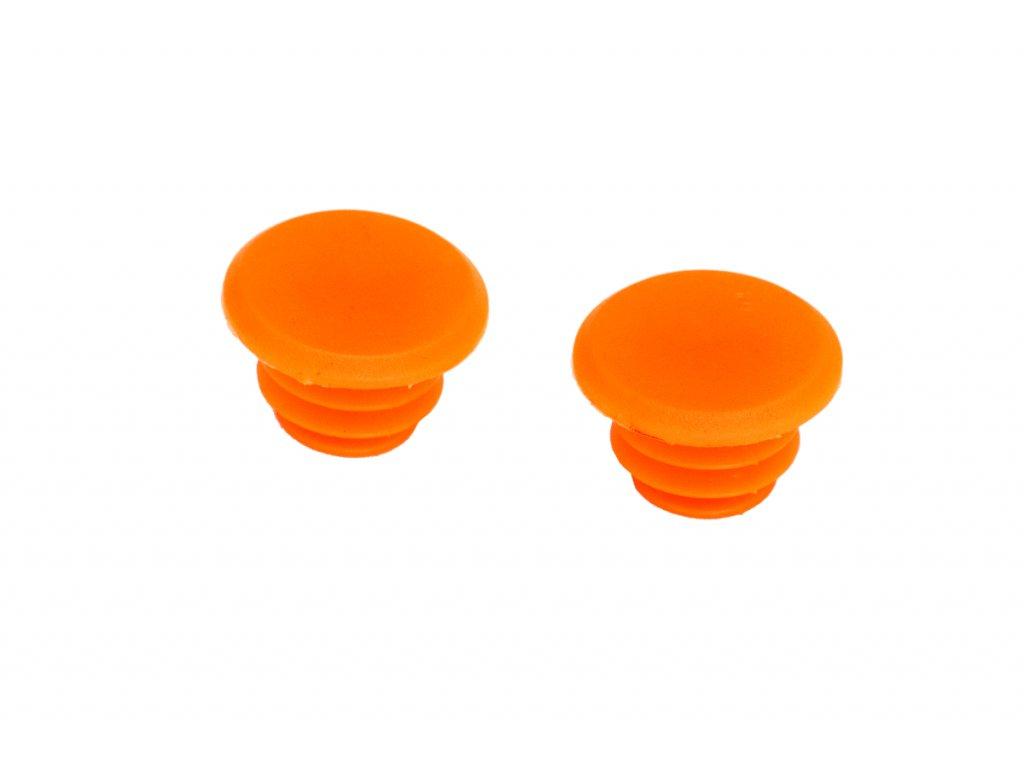 Zátky do řídítek DDK (2 ks) / Oranžová