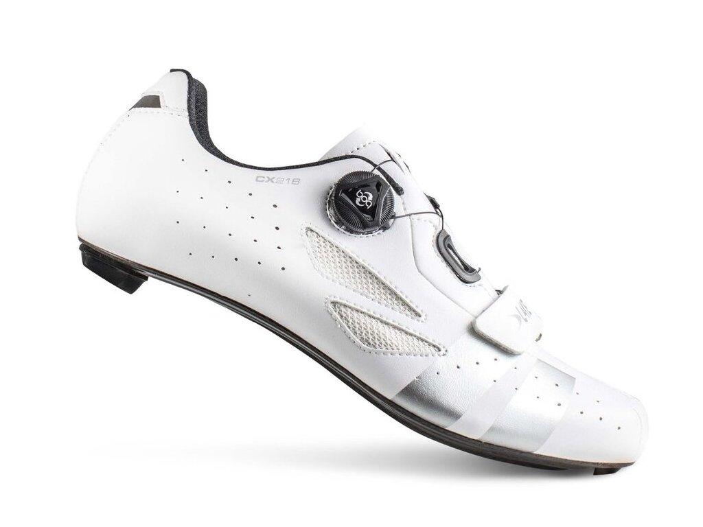 Tretry LAKE CX218 Carbon bílo/stříbrné