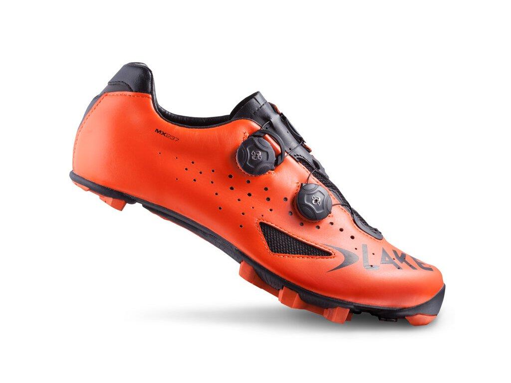 Tretry LAKE MX237 Carbon oranžové